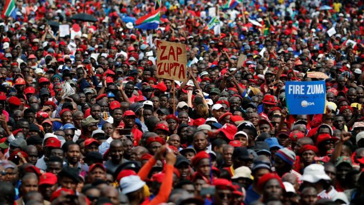 Afrique du sud : manifestation contre Jacob Zuma le jour de son anniversaire