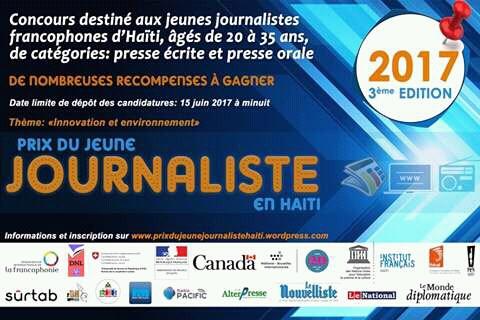 Lancement de la troisième édition du Prix du Jeune Journaliste en Haïti fb img 14937452460588529