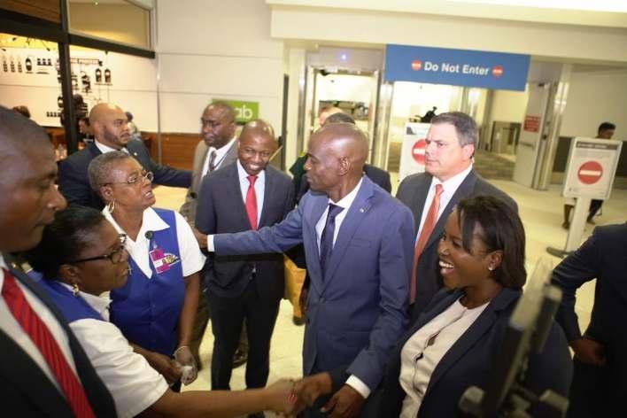 Sommet Haïtien Américain sur les Investissements de la Chambre Haïtienne Américaine de Commerce:le Président de la République est arrivé en Floride wp 1497558935890