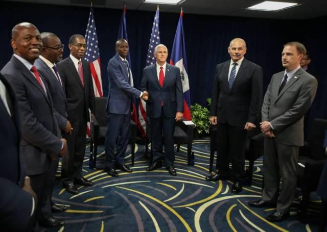 Rencontre entre le président Jovenel Moïse et le Vice-président Américain Mike Pence
